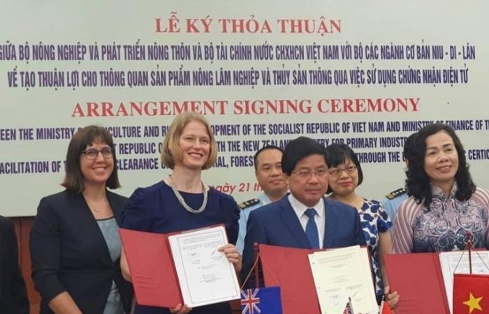 Việt Nam-New Zealand tạo điều kiện thông quan nông sản qua chứng nhận điện tử