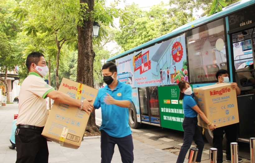 """Khởi động """"Siêu thị 0 đồng"""" hỗ trợ người lao động bị ảnh hưởng Covid-19 tại Hà Nội"""