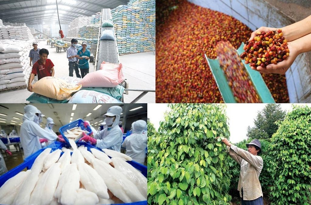 Xuất khẩu nông, lâm, thủy sản tăng vỏn vẹn 1,6%