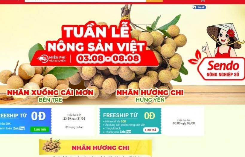 Lần đầu tiên nhãn lồng Hưng Yên bán trên sàn thương mại điện tử