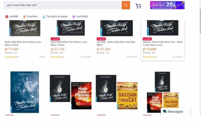 Lazada gỡ 8 gian hàng bán sách giả sau khi bị First News kiện