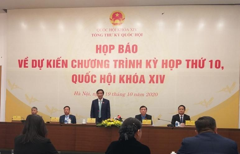 Quốc hội sẽ thông qua 7 dự án luật tại Kỳ họp thứ 10, Quốc hội XIV