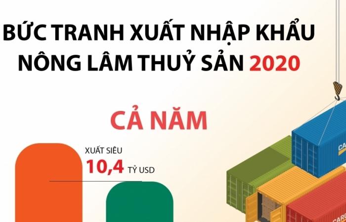 Infographics: Nông sản xuất siêu ấn tượng 10,4 tỷ USD năm 2020