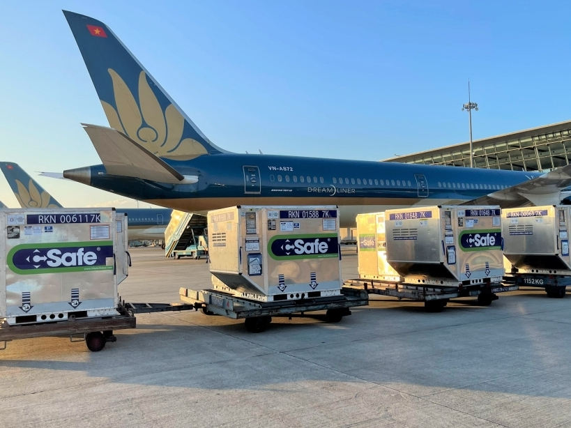 1 triệu liều vắc xin do Nhật Bản hỗ trợ đã được vận chuyển vào TP Hồ Chí Minh