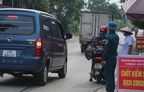 Từ ngày 14/7, Hà Nội tổ chức 22 chốt kiểm soát phòng dịch