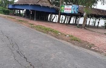 Quốc lộ 91 có hiện tượng nứt, nguy cơ đứt đường