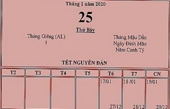 Đã có phương án nghỉ tết Âm lịch 2020