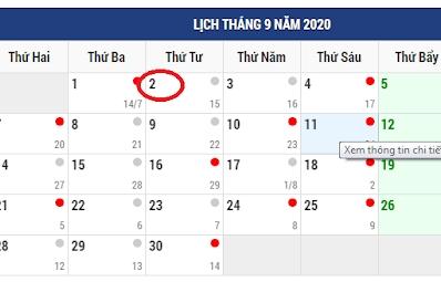 Năm nay sẽ là năm cuối cùng người lao động nghỉ lễ Quốc khánh 1 ngày