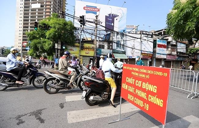 Hà Nội: Siết chặt kiểm soát tại 23 chốt kể cả xe công vụ, xe cứu thương, xe luồng Xanh