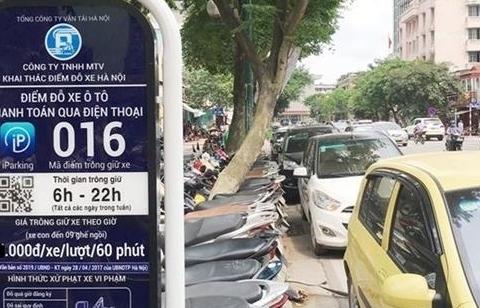 Tạm dừng thí điểm trông giữ xe qua ứng dụng iParking tại Hà Nội