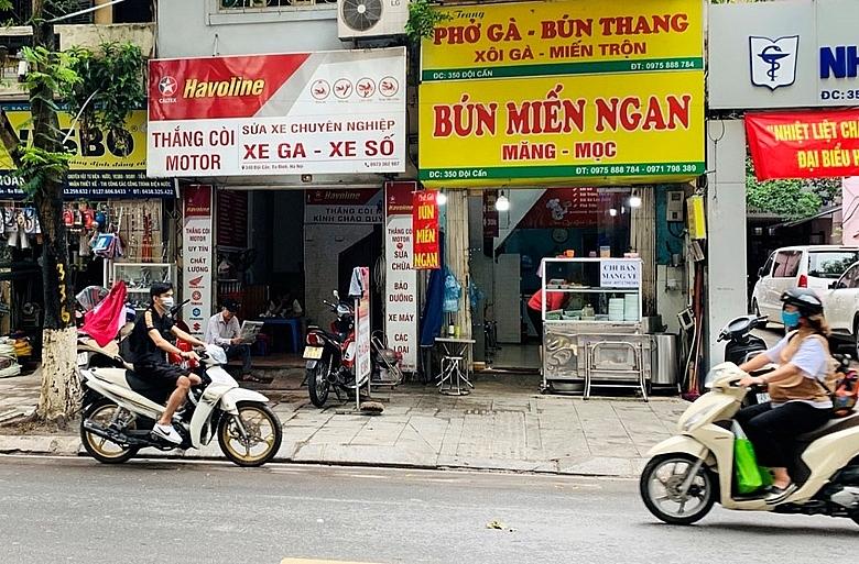 Từ 12h ngày 16/9, 19 quận, huyện, thị xã ở Hà Nội được hoạt động một số cơ sở kinh doanh