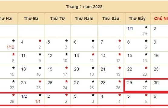 Tết Nguyên đán 2022 sẽ nghỉ 9 ngày ?