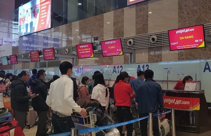 Nhiều đường bay của Vietnam Airlines trong cao điểm Tết đã đầy từ 50% - 90% số ghế