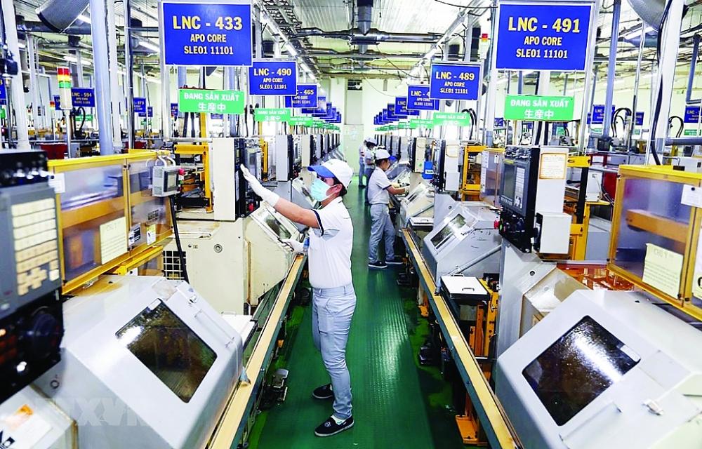Doanh nghiệp sản xuất tại Khu chế xuất Tân Thuận, TP Hồ Chí Minh. Ảnh: TTXVN