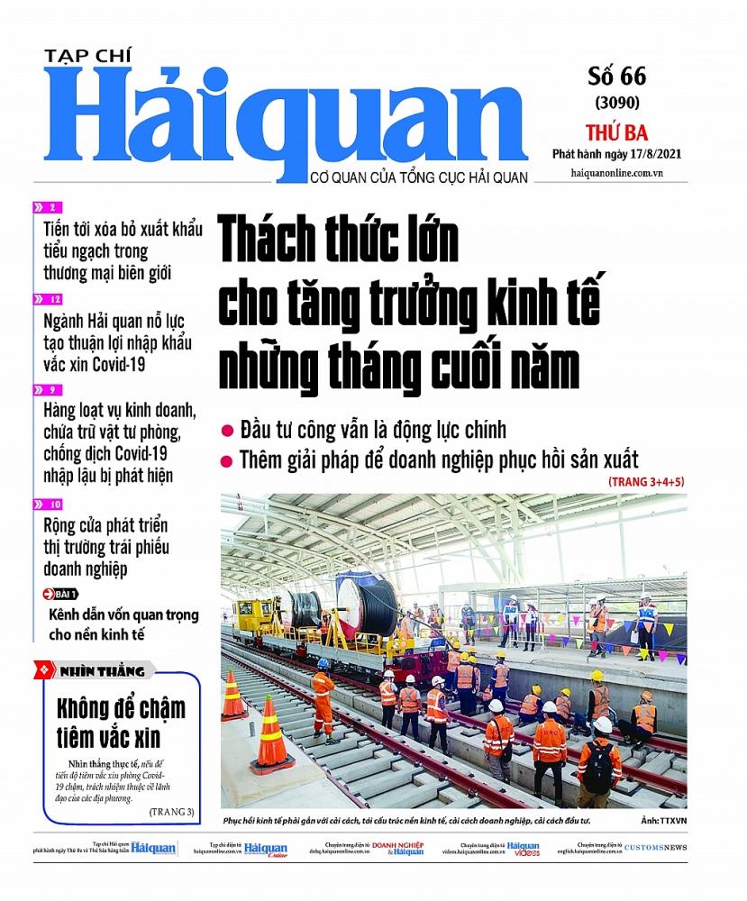 Những tin, bài hấp dẫn trên Tạp chí Hải quan số 66 phát hành ngày 17/8/2021