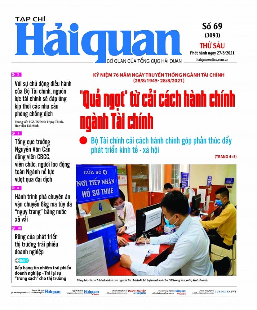 Những tin, bài hấp dẫn trên Tạp chí Hải quan số 69 phát hành ngày 27/8/2021