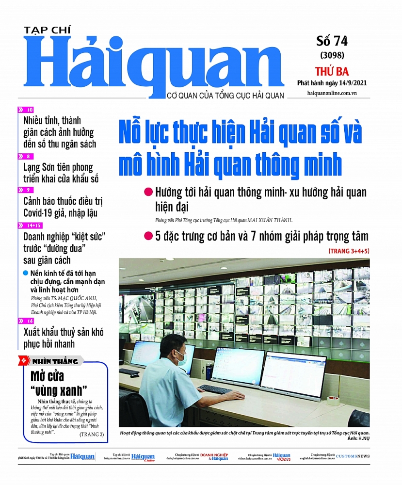 Những tin, bài hấp dẫn trên Tạp chí Hải quan số 74 phát hành ngày 14/9/2021