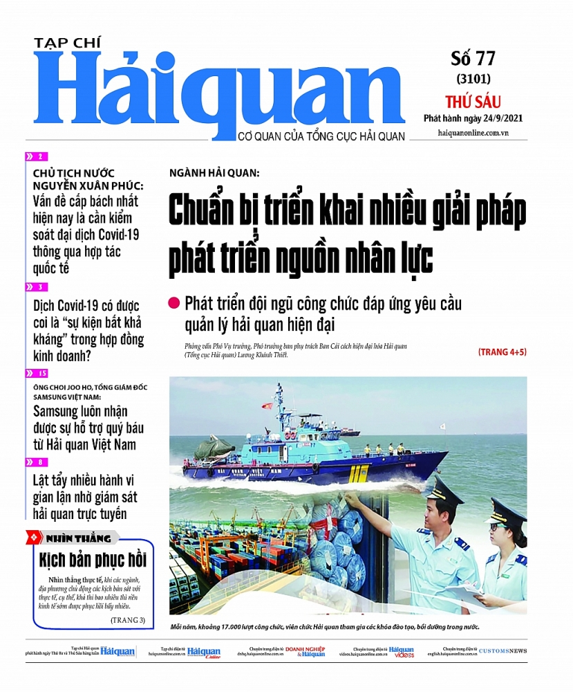 Những tin, bài hấp dẫn trên Tạp chí Hải quan số 77 phát hành ngày 24/9/2021