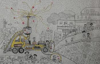"""570.000 bức tranh dự thi """"Chiếc ô tô mơ ước"""" lần thứ 9 do Toyota tổ chức"""