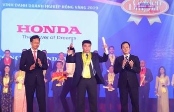Honda Việt Nam nhận giải thưởng Rồng Vàng năm 2019