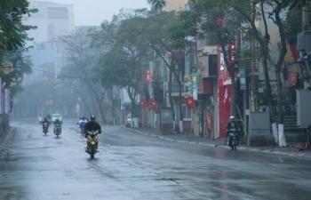 Ảnh hưởng không khí lạnh, Bắc Bộ có mưa diện rộng trong 3 ngày tới