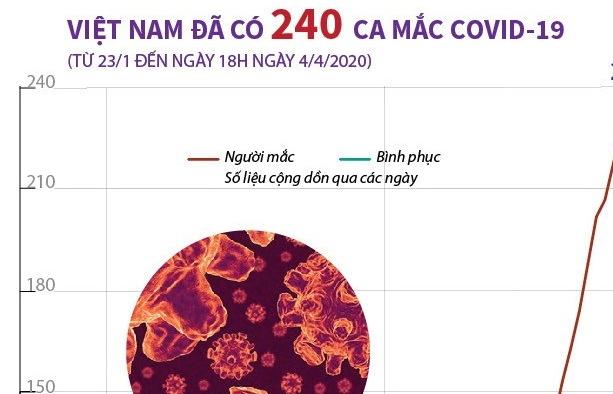 infographics viet nam da co 240 ca nhiem virus sars cov 2