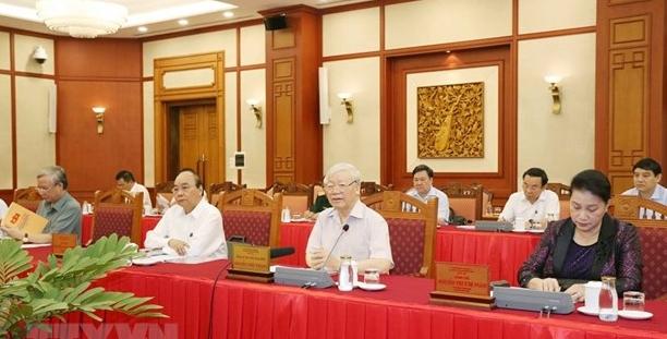 Bộ Chính trị tiếp tục làm việc về chuẩn bị đại hội các đảng bộ trực thuộc TW