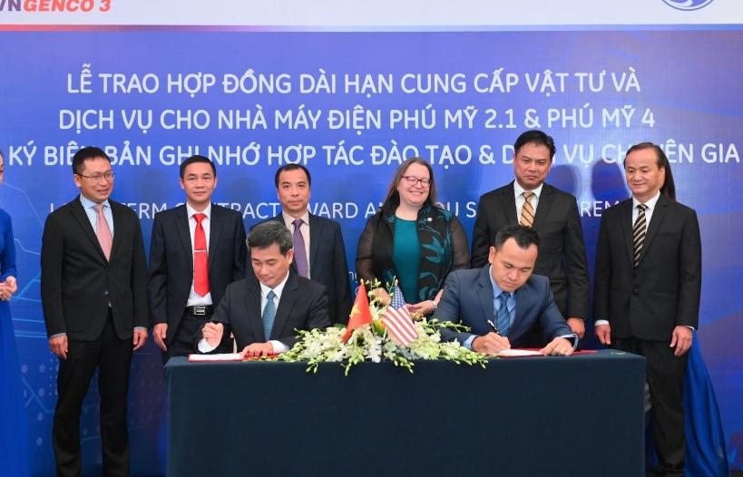 GE và Tổng Công ty Phát điện 3 ký thỏa thuận cung ứng vật tư cho nhà máy điện Phú Mỹ