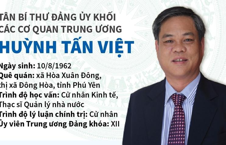 Tân Bí thư Đảng ủy Khối các cơ quan Trung ương Huỳnh Tấn Việt