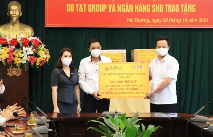 T&T Group và Ngân hàng SHB hỗ trợ tình Hải Dương 150.000 bộ kít xét nghiệm