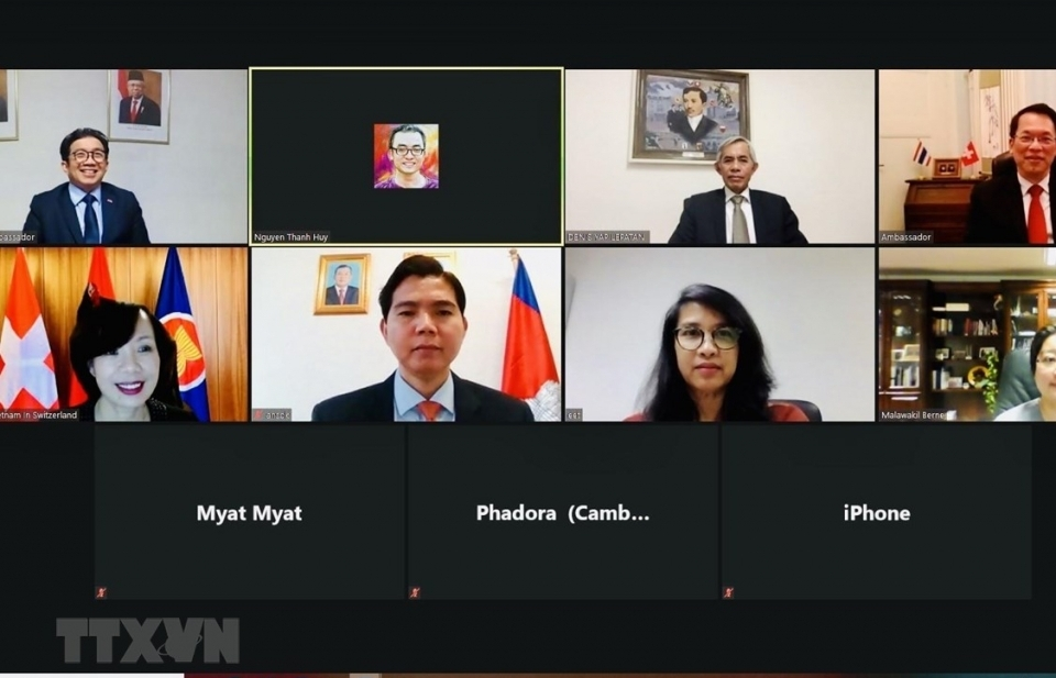 ĐSQ Việt Nam tại Thụy Sĩ chủ trì họp trực tuyến Ủy ban ASEAN ở Bern