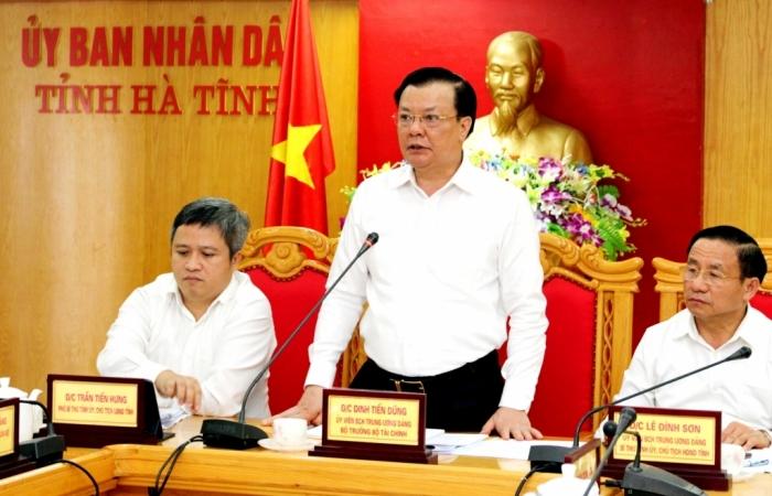Bộ trưởng Bộ Tài chính: Tin rằng Hà Tĩnh sẽ là một trong số địa phương hoàn thành dự toán ngân sách 2020