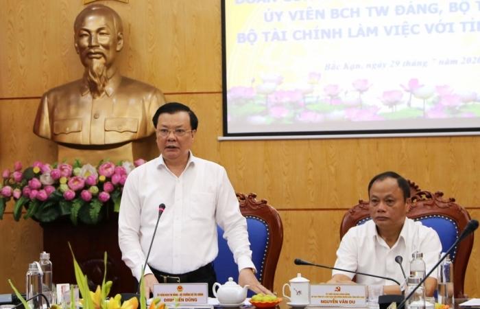 Bộ trưởng Đinh Tiến Dũng làm việc với Bắc Kạn về tình hình tài chính - ngân sách
