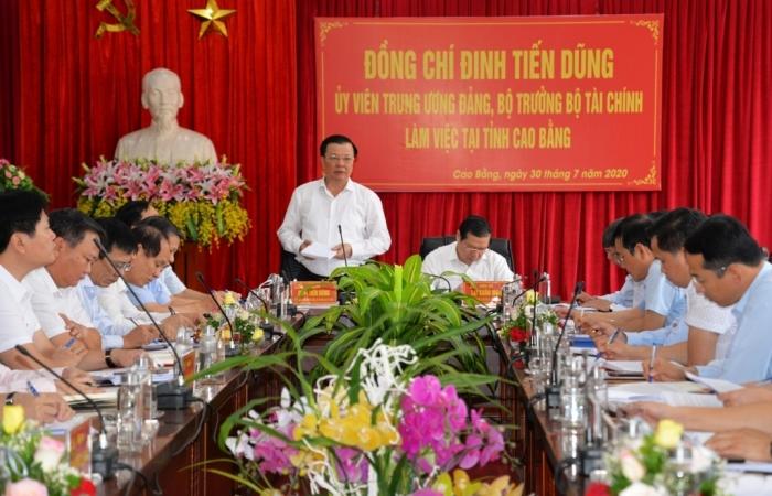 Bộ trưởng Đinh Tiến Dũng: Cao Bằng cần thực hiện tốt nhiệm vụ tài chính - ngân sách