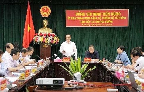 Bộ trưởng Bộ Tài chính làm việc tại Hải Dương