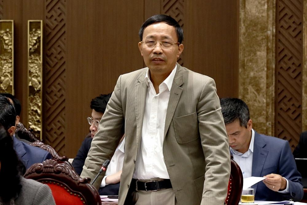 Tổng cục trưởng Nguyễn Văn Cẩn phát biểu tại buổi làm việc.