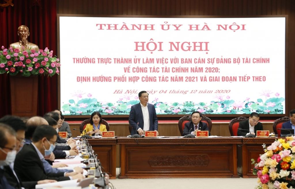 Bộ trưởng Bộ Tài chính: Đang rà soát các khoản thu lớn phản ánh trong số thu của Hà Nội