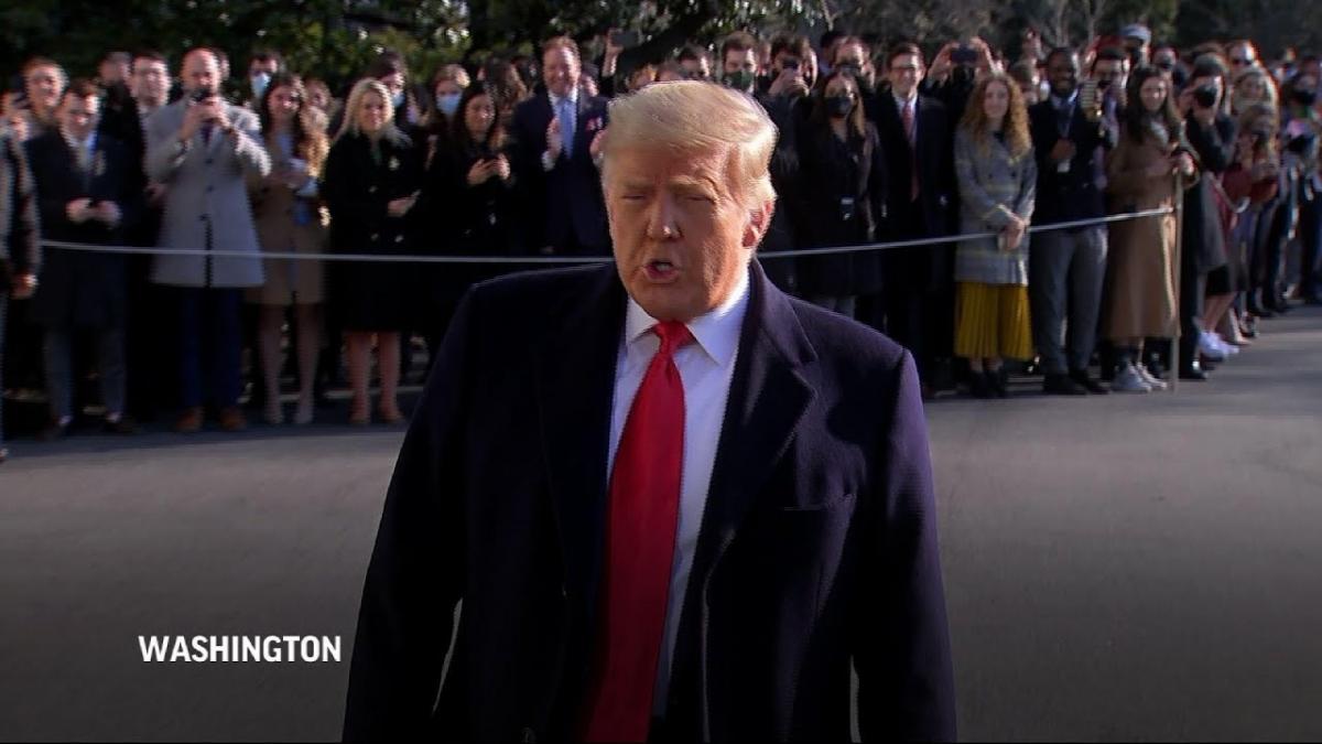 Ông Trump chính thức trở thành Tổng thống Mỹ đầu tiên bị luận tội hai lần trong 1 nhiệm kỳ. Ảnh: AP.