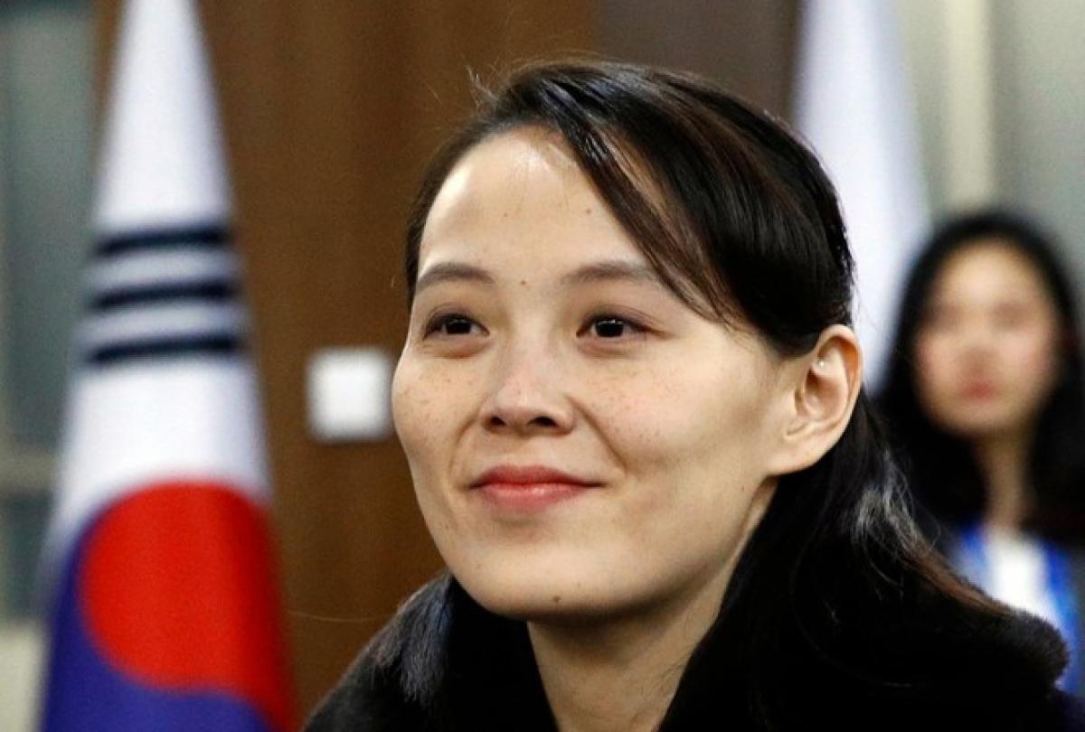 Bà Kim Yo-Jong, em gái Nhà lãnh đạo Kim Jong-un. Nguồn Yonhap.