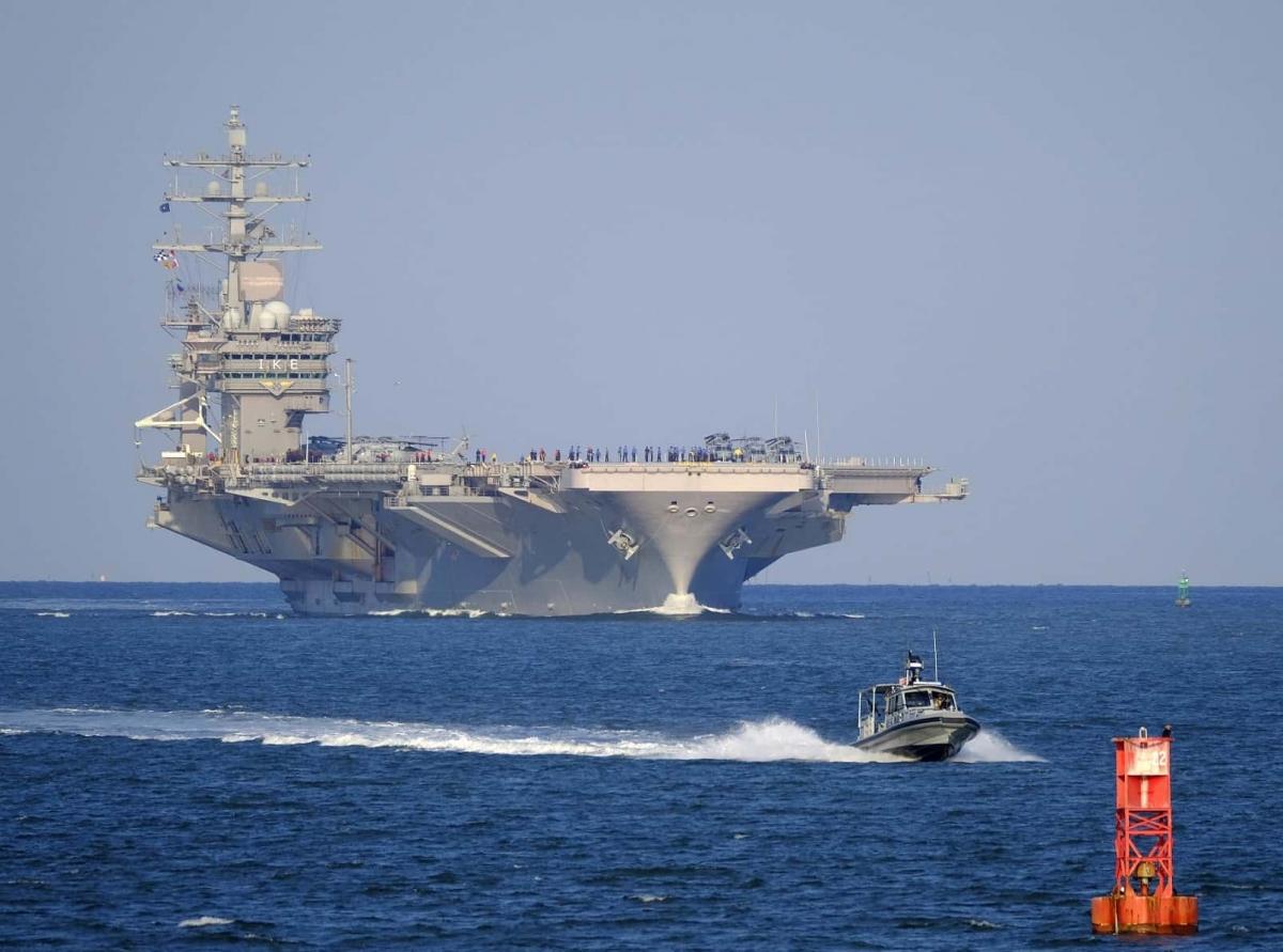 Tàu sân bay USS Dwight D. Eisenhower của Mỹ. Ảnh: Defence Blog.