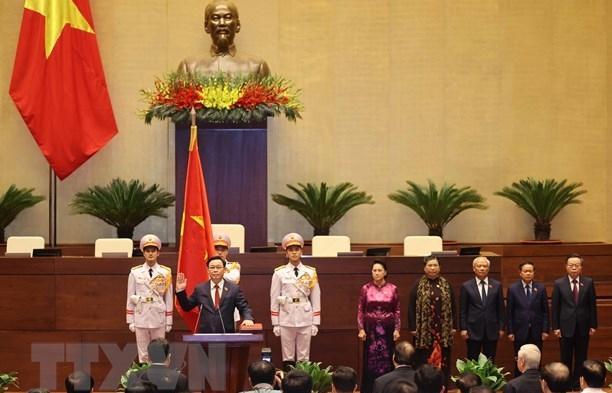 Lãnh đạo quốc hội các nước chúc mừng Chủ tịch Quốc hội Vương Đình Huệ