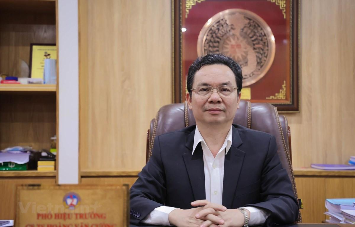 Ông Hoàng Văn Cường, đại biểu Quốc hội đoàn Hà Nội, Ủy viên Ủy ban Tài chính-Ngân sách Quốc hội, Phó Hiệu trưởng trường Đại học Kinh tế Quốc dân. (Ảnh: Minh Hiếu/Vietnam+)