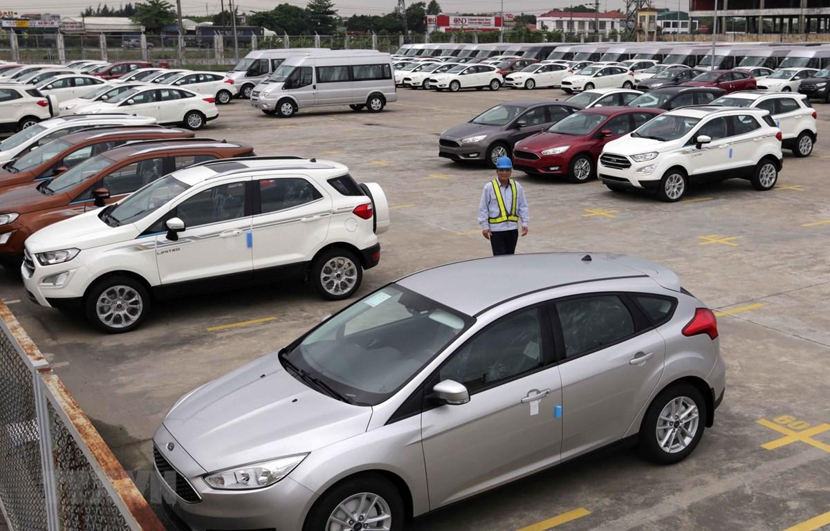 Các loại xe xuất xưởng tại nhà máy Ford Hải Dương. (Ảnh: Trần Việt/TTXVN)