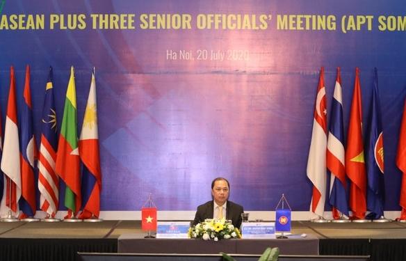 Hội nghị trực tuyến các Quan chức cao cấp ASEAN+3: Nâng cao năng lực đối phó Covid-19