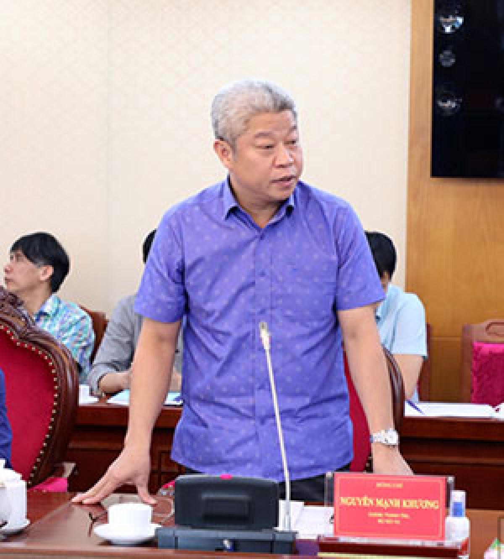 Chánh Thanh tra Bộ Nội vụ Nguyễn Mạnh Khương.