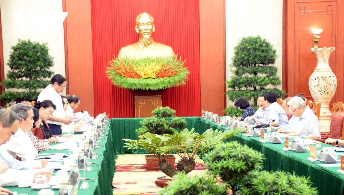 Tổng Bí thư, Chủ tịch nước Nguyễn Phú Trọng, chủ trì phiên họp tiểu ban văn kiện Đại hội XIII của Đảng ngày 11/9.