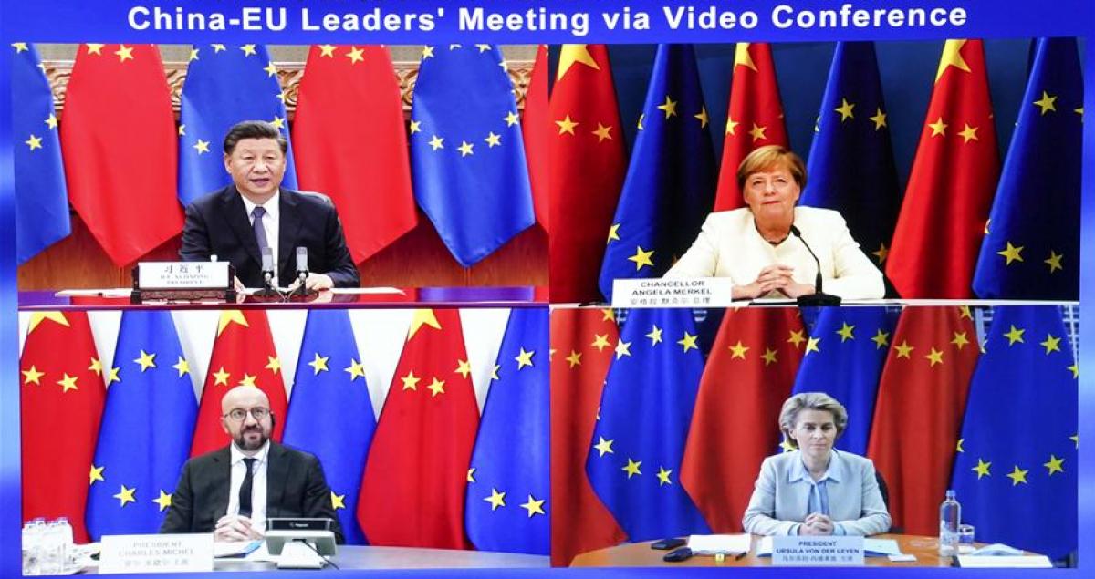 Hội nghị Thượng đỉnh Liên minh châu Âu (EU)-Trung Quốc. Ảnh: Tân Hoa Xã.