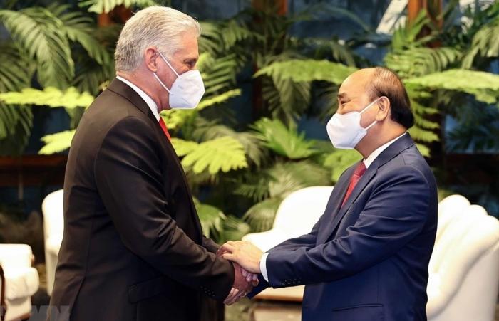 Chủ tịch Diáz-Canel: Cuba không lẻ loi nhờ tình đoàn kết của Việt Nam