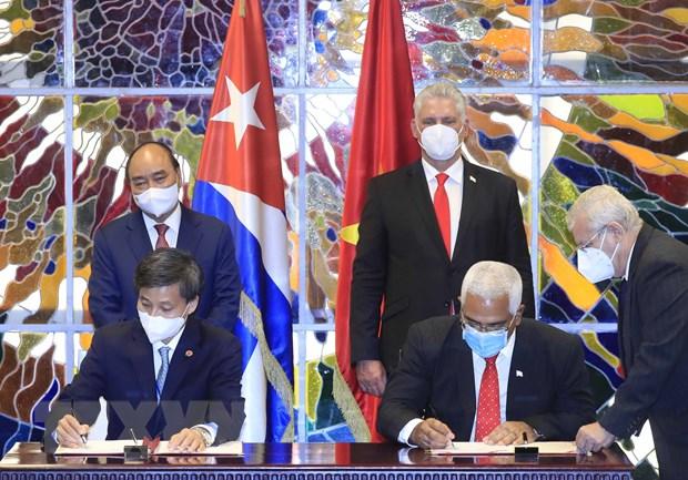 Chu tich Diaz-Canel: Cuba khong le loi nho tinh doan ket cua Viet Nam hinh anh 1