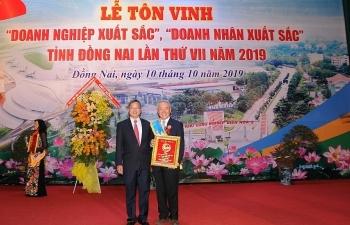 """Vedan Việt Nam được vinh danh """"Doanh nghiệp xuất sắc"""" tỉnh Đồng Nai năm 2019."""
